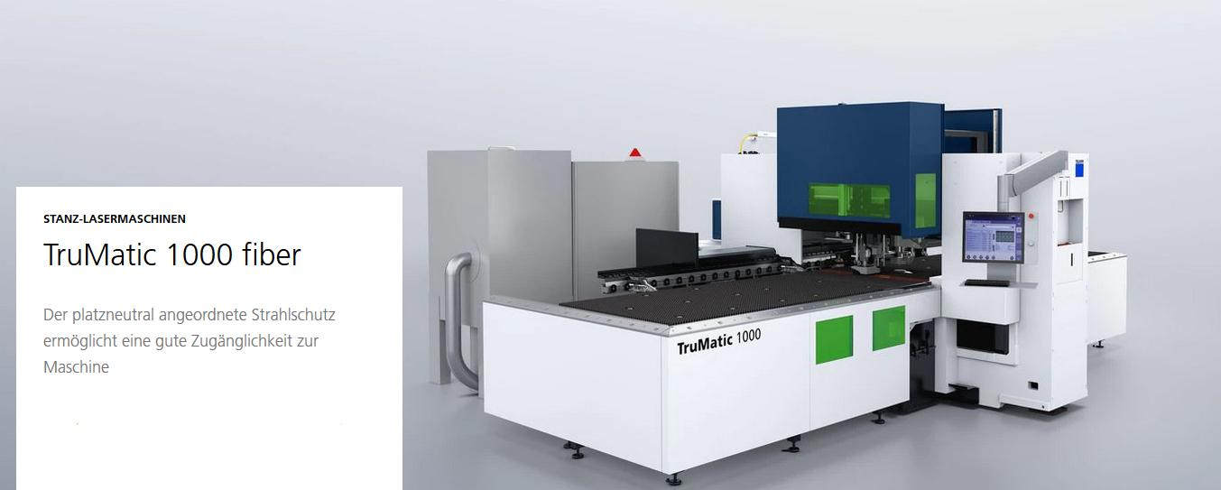 Laserschneiden mit der TruMatic 1000 fiber